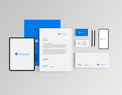 Logo design & mockups, visiting card letterhead etc