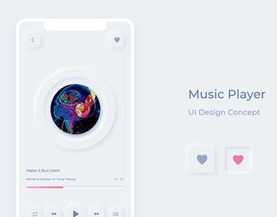 Music Player Design Concept - Soft Elements UI