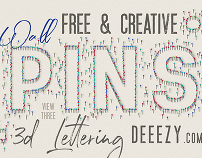 Free Wall Pins 3D Lettering