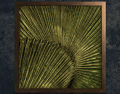Concept Art for Wall Hanging - Palm Leaf Relief Art