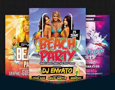 Summer Beach Party Flyer Bundle