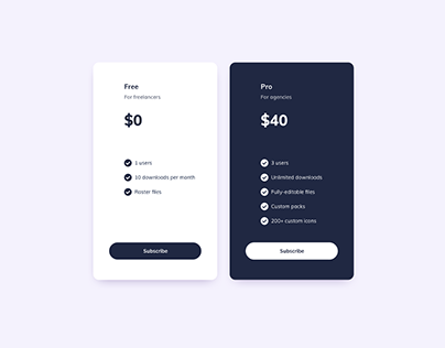 Day 1207・Pricing Cards UI Design
