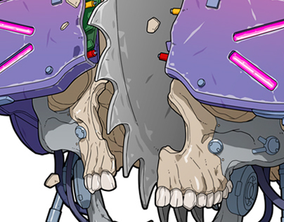 Cyberpunk Skull