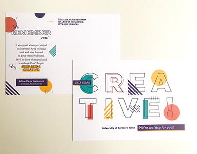 Keep Being Creative Postcard