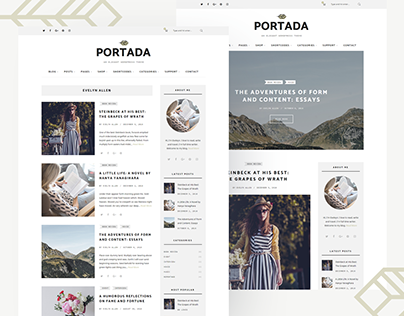 Portada - Elegant Blog WordPress Theme