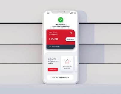 Wallet success screen