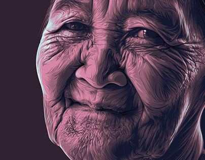 Old woman Vector art