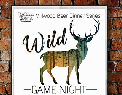 Wild Game Night Event Signage