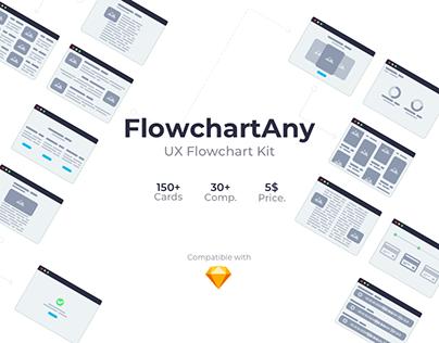 FlowchartAny Desktop ver. - UX Flowchart Kit for Sketch