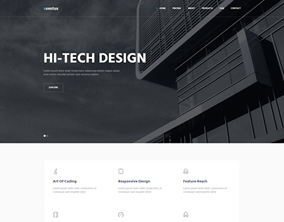 Asentus Bootstrap Template