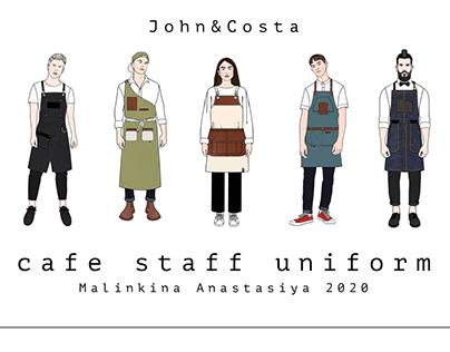 John&Costa cafe staff uniform