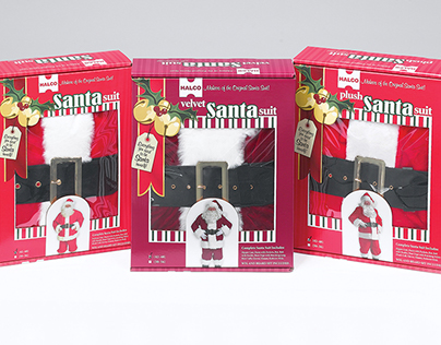 Halco Santa Suit Packaging