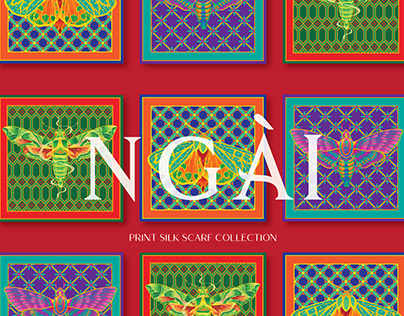 """NGÀI"" PRINT SILK SCRAF COLLECTION"