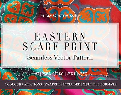 Eastern Scarf Print   Seamless Vector Pattern