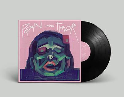 "Porn and Horror ""Mdłości"" – vinyl cover"