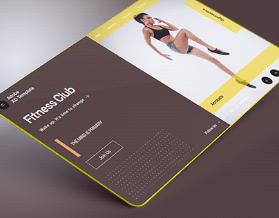 Adobe XD Gym UI Template Download