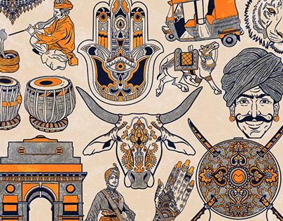 Treasures of India Illustrations