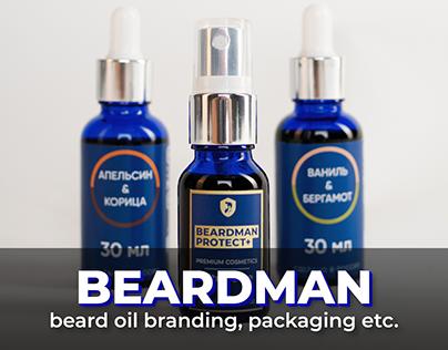 Beardman – Beard oil branding, packaging etc.