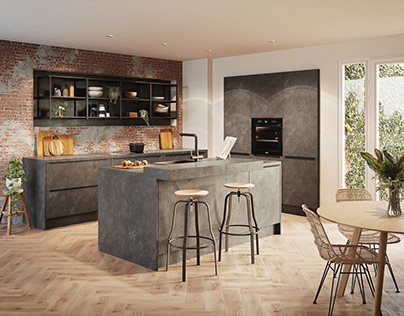 CGI Kitchen: Concrete