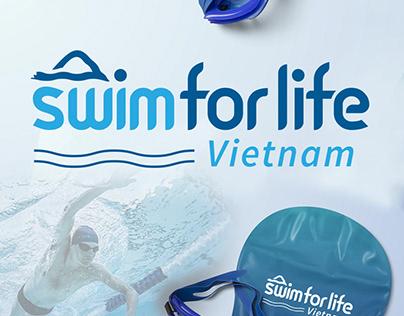 Logo Design of SwimForLife Swimming Center