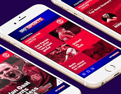 Sky Sports Football // UI Design Concept
