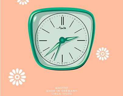 Vintage Alarm Clock Illustration