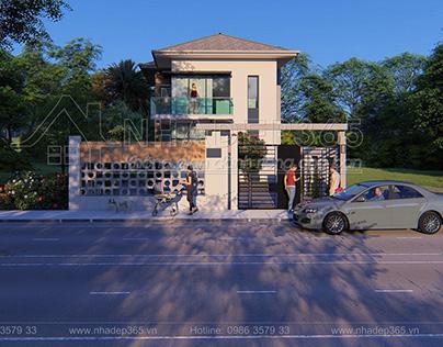 Thiết Kế biệt thự 2 Tầng Diện Tích 7.5x12.5m hiện đại