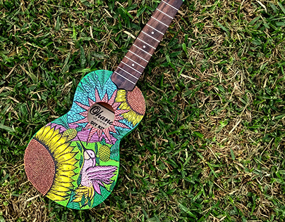 UKELELE hand-painted design: flower
