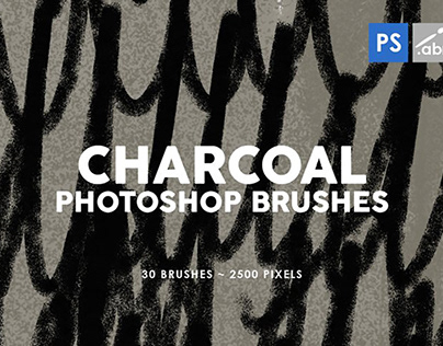 FREE Photoshop Brushes - Charcoal Textures