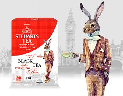 Дизайн упаковки для чая. ТМ STEUARTS TEA.