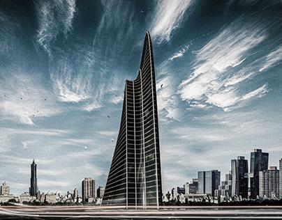 Spline Skyscraper. Programmed w/ Grasshopper.