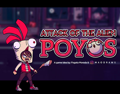 Game Art - Attack of the Alien Poyos