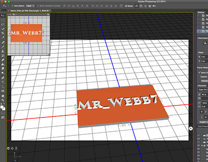 3D Printed Name Plate in Photoshop