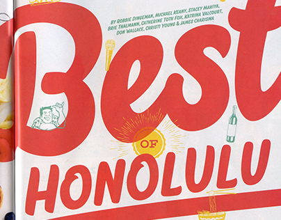 "Spot Illustrations ""Best of Honolulu"" Honolulu Magazine"