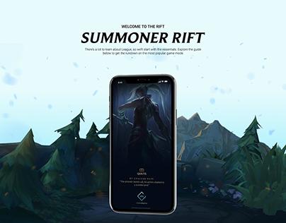 Summoner Rift App for league of legends UI/UX Design