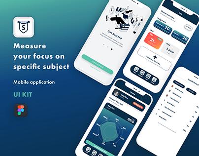 Free Mobile App | UI/UX Monitor Study App | UI KIT