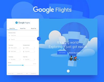 Google Flights - Concept