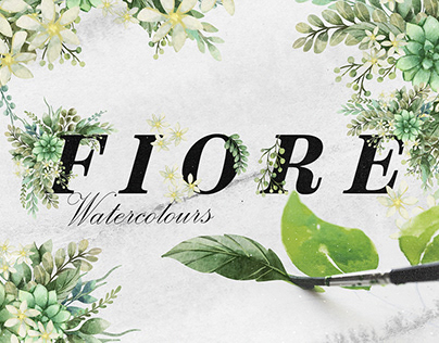 Fiore Watercolor Floral Elements
