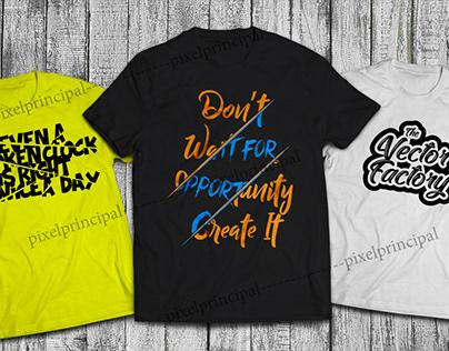 Typography T-shirt Bundle, Trendy Design 2020