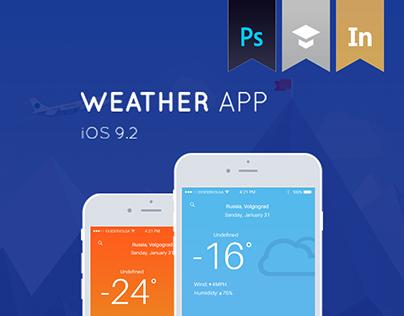 Weather app for iOS (Mobile UI Design)