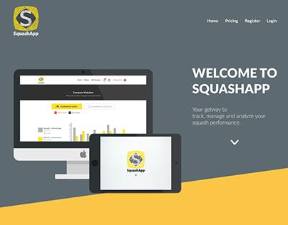 SquashApp Landing Page