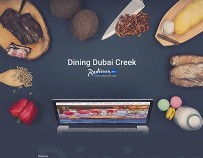 Dining Dubai Creek, Radisson Blu | Web Design