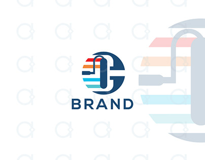 Letter C Painting Logo
