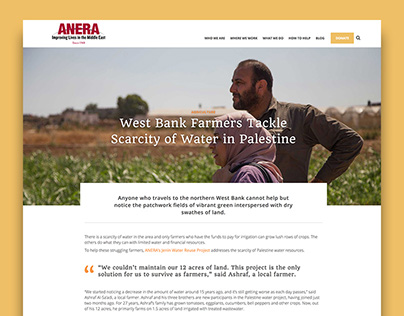 ANERA website redesign