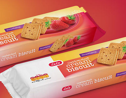Lulu Cream Biscuit Packaging #packaging #Cream #Biscuit
