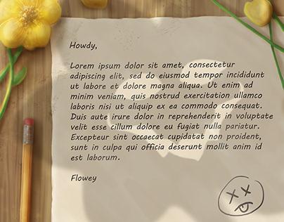 Undertale - Flowey Letter