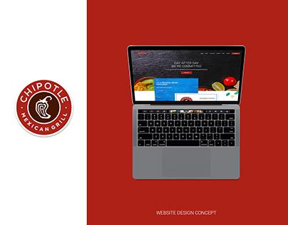 Chipotle Website Concept