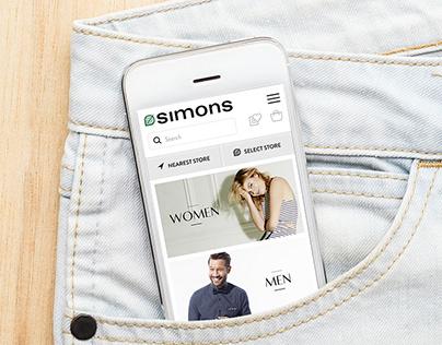 Simons Mobile Website