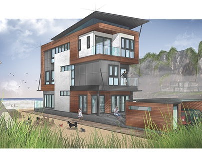 RESIDENTIAL ARCHITECTURE ILLUSTRATION