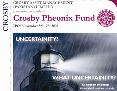 Marketing material for Crosby Asset Management 2007-8